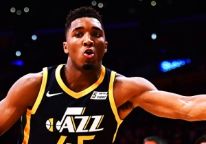 Louisville Alum Donovan Mitchell Had A Message For The NCAA With His Footwear Choice On Friday
