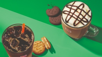 Dunkin' Donuts Debuts Girl Scout Cookie-Inspired Drinks
