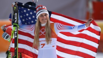 Lindsey Vonn Picked Up A Bronze Medal In Her Final Olympic Downhill Race