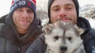 Olympic Skier Gus Kentworthy Adopted A Puppy From A South Korean Dog Meat Farm