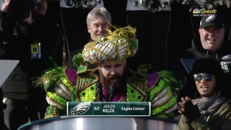 Jason Kelce's Crazed Eagles Super Bowl Parade Promo Was Chock Full Of F-Bombs