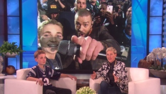 Justin Timberlake And The Super Bowl Selfie Kid Reunite And Plan Their Next Selfie On 'Ellen'