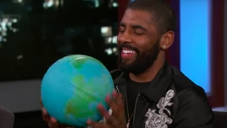 Kyrie Irving Pondered The 'Potential Roundness' Of The Earth On 'Jimmy Kimmel Live'