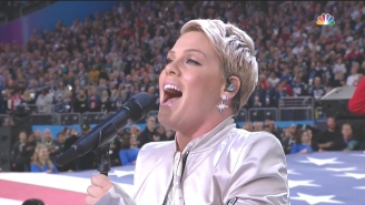 Watch Pink Soldier Through The Flu To Deliver The National Anthem At Super Bowl 2018