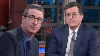 John Oliver Helps Stephen Colbert Convince Trump To Speak To Robert Mueller On 'The Late Show'