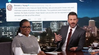 Oprah Tells Jimmy Kimmel Why She Ain't Got Time For Tweeting Back At Trump