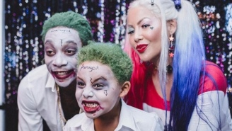 Wiz Khalifa And Amber Rose Dressed Up As The 'Suicide Squad' For Their Son's Halloween-Themed Party