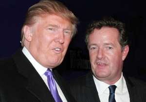 Piers Morgan Apparently Can't Stop Posting A Photo Of Himself Giving Trump A Rim Job