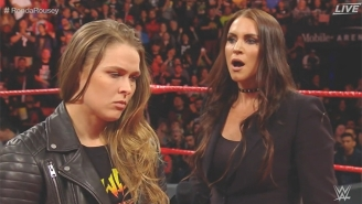 Ronda Rousey's Contract Signing At WWE Elimination Chamber Ended In Violence