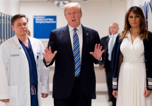 Sarah Huckabee Sanders Lashes Out At A 'Misleading' Story About Trump's Florida Hospital Visit