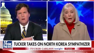 Tucker Carlson Goes Toe-To-Toe With A 'North Korea Sympathizer' In A Truly Bonkers Segment