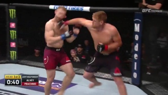 A UFC Fighter Marched Forward Like A Zombie Until Sam Alvey Crumpled Him With A Massive Blow At UFC Orlando