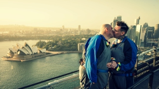 The Sydney Harbor Bridge Celebrated Its First Legal Same Sex Marriage