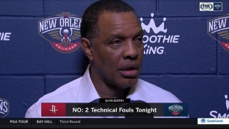 Alvin Gentry Was Furious Anthony Davis 'Never Gets A Call' After A Loss To Houston
