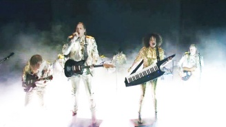 Arcade Fire Have A Foggy, Funky 'Saturday Night Live' Performance Then Apologize For Being Canadian