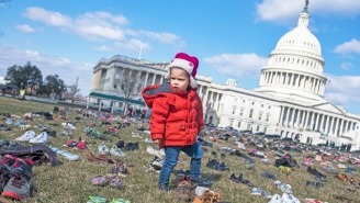 Activists Have Placed 7,000 Shoes Outside The Capitol Building To Represent Children Killed By Gun Violence