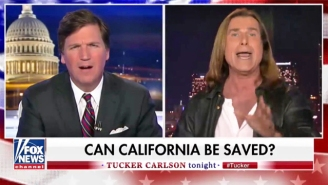 Tucker Carlson Enlisting Fabio As An Expert On The California Economy Is Beyond Parody