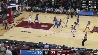 Texas A+M Finished Off A 17-Point Comeback To Beat DePaul On A Late Chennedy Carter Three