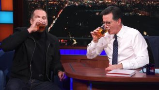 Now We Know Tom Brady Can Destroy Stephen Colbert In A Beer Chugging Competition