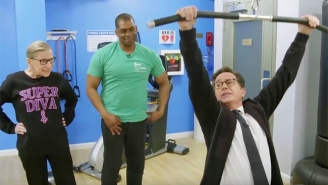 Stephen Colbert Gets A 'Notorious' Workout From Supreme Justice Ruth Bader Ginsburg