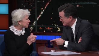 Helen Mirren's Stirring Poetry Reading Has Stephen Colbert Feeling Emotional