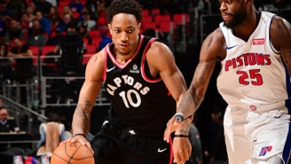 DeMar DeRozan Put Anthony Tolliver On A Poster In Crunch Time Against The Pistons