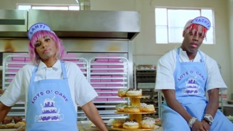 Lil Yachty And Santigold Bake Up 'Lots O' Cake' In Diplo's Sweet-Filled 'Worry No More' Video