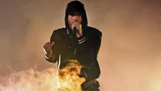 Eminem Slams The NRA With A New 'Nowhere Fast' Verse In A Fiery iHeartRadio Music Awards Performance