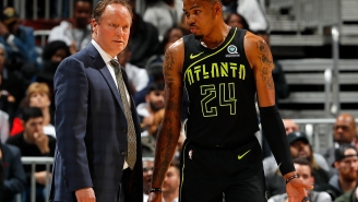 Hawks Guard Kent Bazemore's Season Is Over Due To A Knee Injury