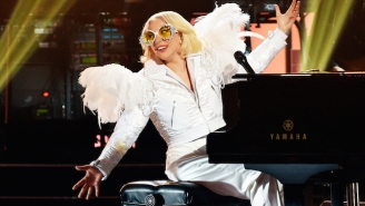Lady Gaga Takes To The Piano And Delivers A Dazzling Cover Of Elton John's 'Your Song'