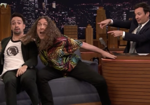 'Weird Al' Yankovic, Lin-Manuel Miranda And Jimmy Fallon Lip Sync 'The Hamilton Polka,' And The Joy Is Palpable
