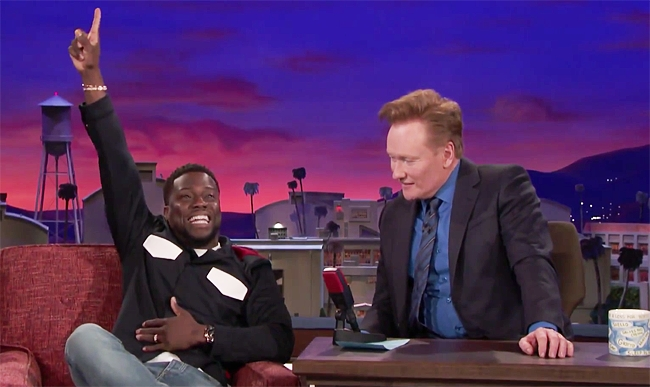 Kevin Hart Explains Why He Decided To Drunkenly Storm The Field At The Super Bowl On 'Conan'