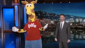 Jimmy Kimmel Consoles A Boozy, Despondent Geoffrey The Giraffe Over Toys 'R' Us Closing