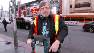 Mark Hamill Tries To Use The Force On Jimmy Kimmel As They Get Into Some Literal 'Star Wars' On The Walk Of Fame