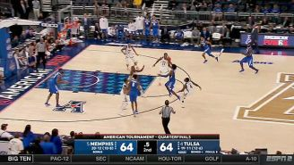 Memphis Stunned Tulsa In The AAC Tournament With An Insane 3-Point Floater At The Buzzer
