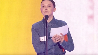 John Cena And 'Stranger Things' Star Millie Bobby Brown Pay Tribute To March For Our Lives At The Kids' Choice Awards
