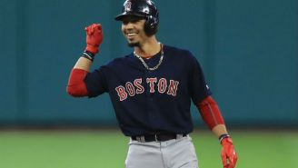 Mookie Betts Had Some Fun While Getting Interviewed By ESPN During A Spring Training Game