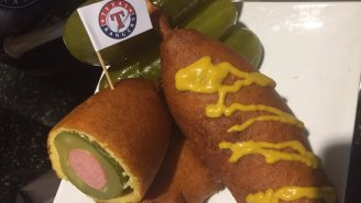 The Texas Rangers' New Pickle Corn Dog Is An Abomination