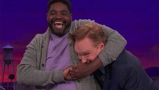 Ron Funches Showed Off His Sweet Wrestling Moves On 'Conan'