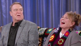 Roseanne Barr And John Goodman Rode The 'Roseanne' Couch To 'Kimmel' To Talk About The Revival