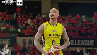 Robert Sacre Participated In Japan's B-League Dunk Contest And Had Some Trouble