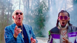 Offset And Metro Boomin Get Lit With The Nature Boy Himself In Their 'Ric Flair Drip' Video