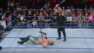 Sami Callihan Accidentally Destroyed Eddie Edwards' Face With A Bat On Impact
