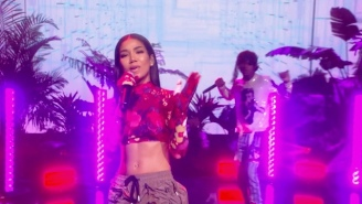 Jhene Aiko And Rae Sremmurd Deliver A Dreamy, Neon-Soaked Performance Of 'Sativa' On 'Ellen'