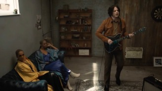 Jack White Shreds His Guitar For Two Bemused Supermodels In His 'Over And Over And Over' Video