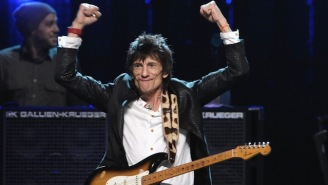The Rolling Stones Guitarist Ronnie Wood Has Been Given A Clean Bill Of Health After A Cancer Scare