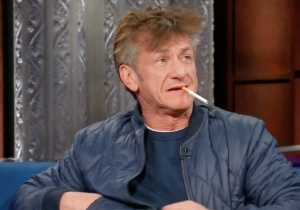 Sean Penn Raised A Few Eyebrows By Lighting Up A Cigarette In The Middle Of His 'Late Show' Interview
