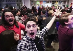Watch A Group Of Nintendo Fans Go Insane Over The 'Super Smash Bros.' Switch Reveal