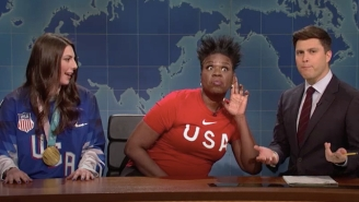 'SNL' Olympics Expert Leslie Jones Breaks Down Her Winter Games Experience On 'Weekend Update'
