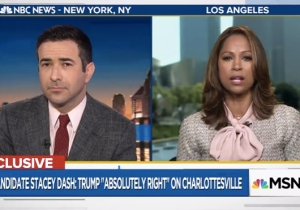 Stacey Dash Tells MSNBC That Trump Was 'Absolutely Right' In His 'Both Sides' Charlottesville Response